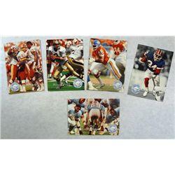5 NFL Pro Set Platinum/Platinum Profile Football Cards