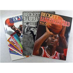 3 Beckett Price Guides   JORDAN / JACKSON / SHAQ