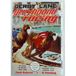 Pete Rose Autograph of Greyhound Racing Program