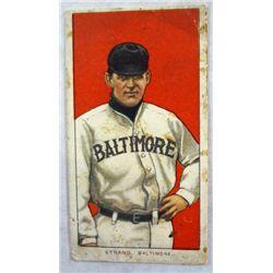 T206 tobacco cardSam Strang Baltimore EX lite cr UR colorful  dirty grades VG/EX