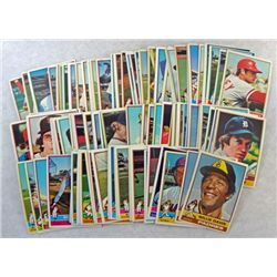 100 - 1976 TOPPS BASEBALL CARDS.  MOSTLY ALL DIFFERENT.  NICE EM to EX.
