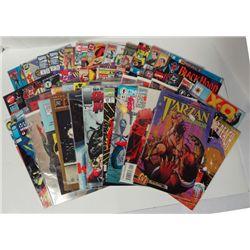 50- 1990's Comic Book Lot, Tarzan the Warrior, Namor the Sub-Mariner, Dead-Pool