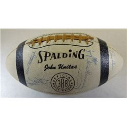 RARE White Football Autographed by Johnny Unitas and 1958 Championship Team