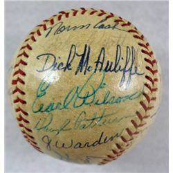 1968 TIGERS WORLD SERIES  AUTOGRAPHED BASEBALL OVER 28 SIGNATURES