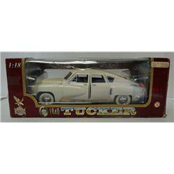 ROAD LEGENDS 1948 TUCKER, 1:18 SCALE, DIE CAST METAL CAR (in original box)