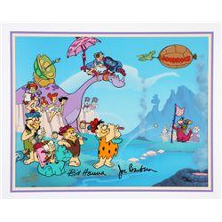 Flintstones Pebbles Beach Limited Animation Art Signed by Bill Hanna & Joe Barbera