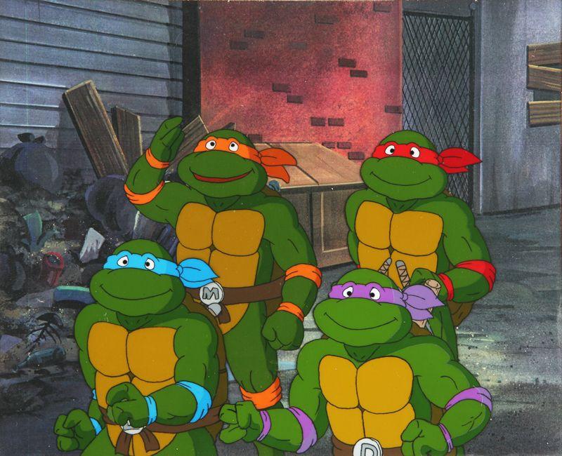 Teenage Mutant Ninja Turtles Rare Donatello Original Production Animation Cel