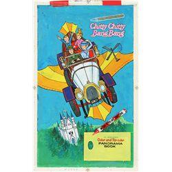 1968 Chitty Chitty Bang Bang Panorama Book Artwork