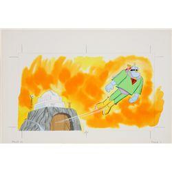1968 Frankenstein Jr. Tell a Tale Book Original Artwork