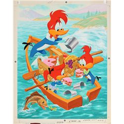 1972 Woody Woodpecker Jigsaw Puzzle Original Artwork