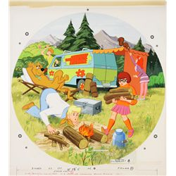 1974 Scooby Doo Round Jigsaw Puzzle Original Artwork
