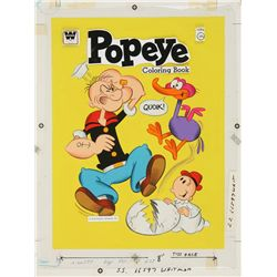 1978 Popeye Coloring Book Original Artwork