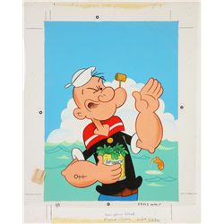 1981 Popeye Coloring Book Original Artwork