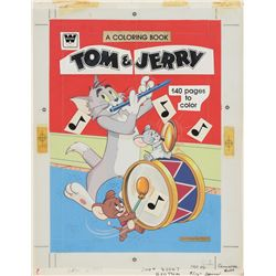 1979 Tom and Jerry Coloring Book Original Artwork