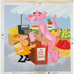 1979 Pink Panther Round Jigsaw Puzzle Original Artwork