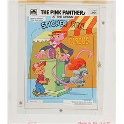 1983 Pink Panther Sticker Fun Book Original Artwork