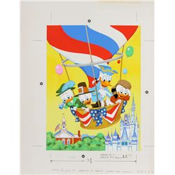 1976 Disney's America on Parade Frame-Tray Puzzle Original Artwork