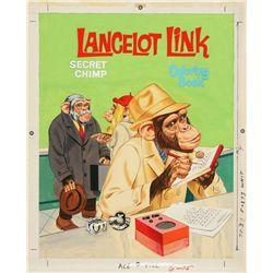 1971 Lancelot Link Secret Chimp Coloring Book Original Artwork