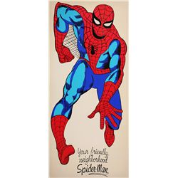 Vintage 1966 Life-size Spider-Man Pin-up from Marvel