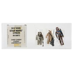 Kenner Star Wars 3-Pack Mailer: Chirpa, Logray & Chewbacca
