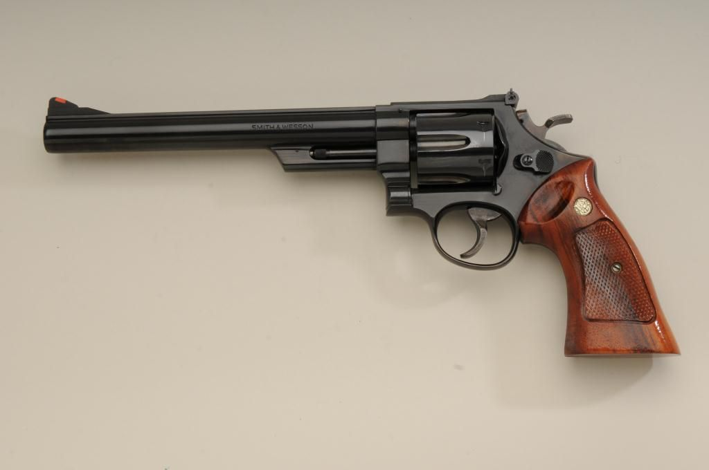 "Smith & Wesson Model 25-5 DA revolver,  45 Colt cal , 8-3/8"" barrel, blue  finish, checkered combat"