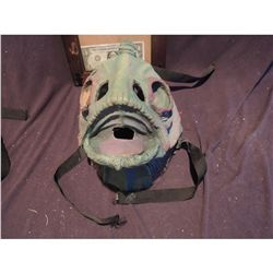 WEARABLE ANGLER FISH GILL MAN FULL FACE MASK WITH STRAPS PAINTED NO RESERVE!