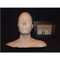 SEVERED COMPLETE HEAD WITH GORE 14 URETHANE LATEX OR POLY FOAM