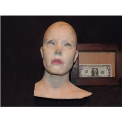 SEVERED COMPLETE HEAD WITH GORE 16 URETHANE LATEX OR POLY FOAM