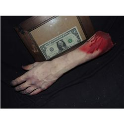 SEVERED BLOODY ARM WITH HAND AND GORE AT STUMP 10 URETHANE LATEX OR POLY FOAM
