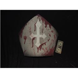 MARILYN MANSON STAGE SHOW PROP WEARABLE BLOODY POPE OR BISHOP HAT NO RESERVE