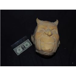 UNPAINTED LATEX DEMON HEAD OR MASK NO RESERVE!