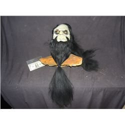 MAD MONK WITH LONG HAIR AND BEARD HALLOWEEN MASK NO RESERVE