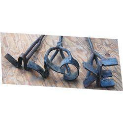 3 branding irons
