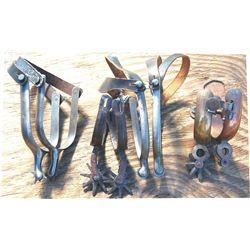4 pairs spurs, iron