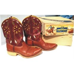 Cute kids 50's Cowpuncher boots