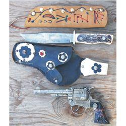 Western cap gun and holster