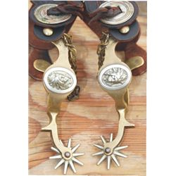 Buermann bronze Indian head spurs