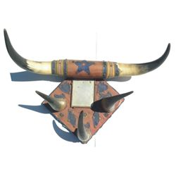 early horn hat or coat rack with mirror