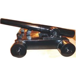 "firing cannon 20 1/2"" long barrel"