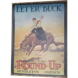 1910 Pendleton Roundup poster