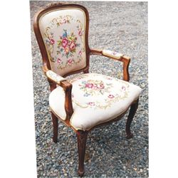 Needle point antique chair