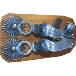 L & M fancy double mounted spurs
