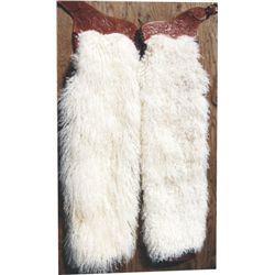 new white angora chaps