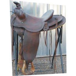 Hamley border tooled saddle