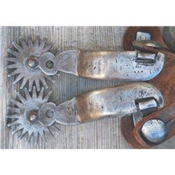 K B & P large iron spurs