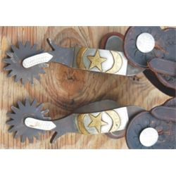 Pierce double mounted Lone Star spurs