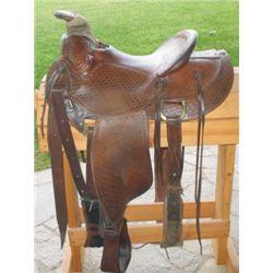 Charlie Baker basket stamped saddle