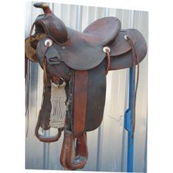 Lawrence border tooled saddle