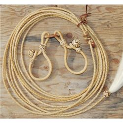 rawhide multi color set, hobbles and reata