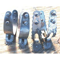 2 pairs Eureka iron spurs